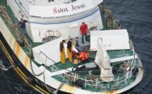 Évacuation sanitaire d'un marin-pêcheur au large de Boulogne-sur-Mer