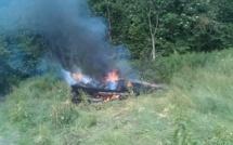 Alerte au feu en lisière d'un massif boisé à Roncherolles, près des Andelys