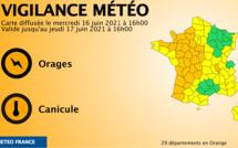 La Normandie placée en vigilance orange pour un risque d'orages et en jaune pluie-inondation