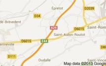 Collision entre un poids-lourd et deux voitures sur l'A29 à Saint-Aubin-Routot