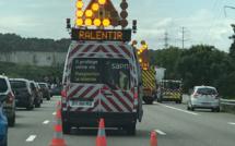 Collision entre trois véhicules sur l'A13 en Seine-Maritime : quatre blessés transportés à l'hôpital