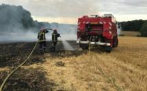 Seine-Maritime : trente ballots de foin ravagés par un incendie à Bennetot