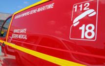 Seine-Maritime : une voiture sur le toit pont Flaubert à Rouen, la conductrice blessé légèrement