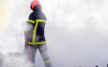 Deux lances à incendie ont été nécessaires pour venir à bout du feu - Illustration