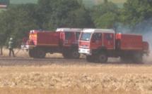 Eure : 3 hectares de blé sur pied détruits par le feu près d'Étrepagny