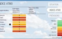 Pic de pollution aujourd'hui dans le Calvados et la Manche