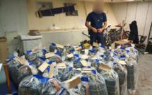 Plus d'une tonne de cocaïne saisie par la douane de Dunkerque dans un navire de commerce