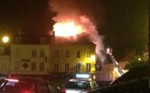 URGENT. Violent incendie dans le centre-ville de Gisors : 45 sapeurs-pompiers mobilisés