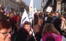 Manifestation contre la fermeture de dix centres d'information et d'orientation en Haute-Normandie