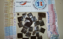 Plus d'un kilo de résine de cannabis et des billets de banque saisis en Seine-Maritime