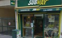 L'inconnu en jogging se fait remettre la recette du restaurant Subway à Rouen