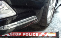 Rouen : la Fiat 500 des fuyards est stoppée par la herse à clous des policiers