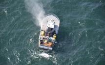 Sauvetage en mer : deux marins récupérés sur un radeau de survie au large de Port-en-Bessin