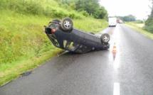 La voiture fait deux tonneaux à Romilly-sur-Andelle : un blessé léger