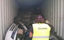 Le Havre : 18 tonnes de déchets automobiles illégaux bloquées par la douane