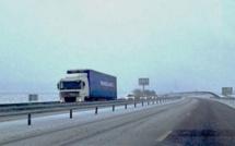 Neige et verglas : la circulation des poids-lourds réglementée dans 8 départements