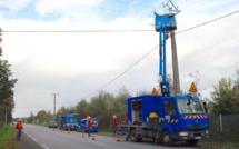 Tempête : 4 300 clients d'ERDF toujours privés d'électricité ce soir en Normandie