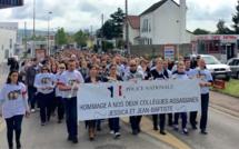 Magnanville : 2 500 personnes à la marche blanche en hommage aux deux policiers assassinés